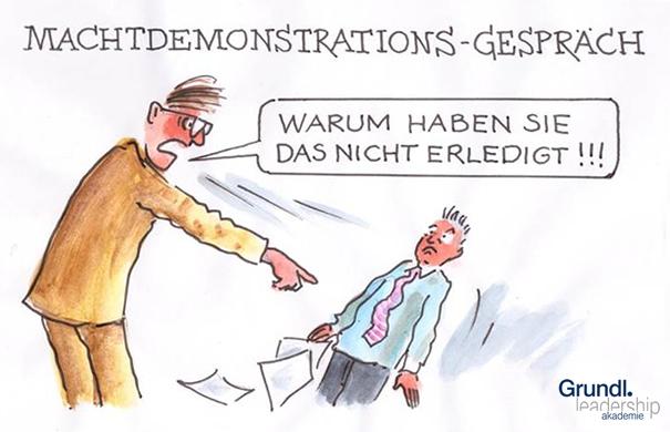 Machtdemonstrations-Gespräch
